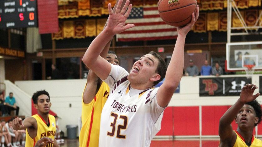 Torrey Pines senior Jake Gilliam had 26 points and 13 rebounds in the Falcons' win Tuesday night.