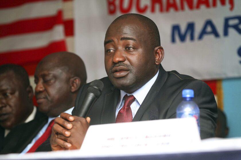 Musa Bility, presidente de la Asociación de Futbol de Liberia, y candidato a dirigir a la FIFA.