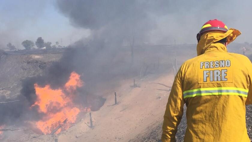 Explosion near Fresno