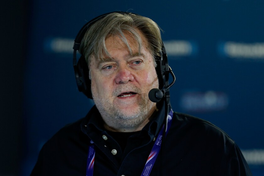 Stephen K. Bannon is chief executive of Donald Trump's presidential campaign.