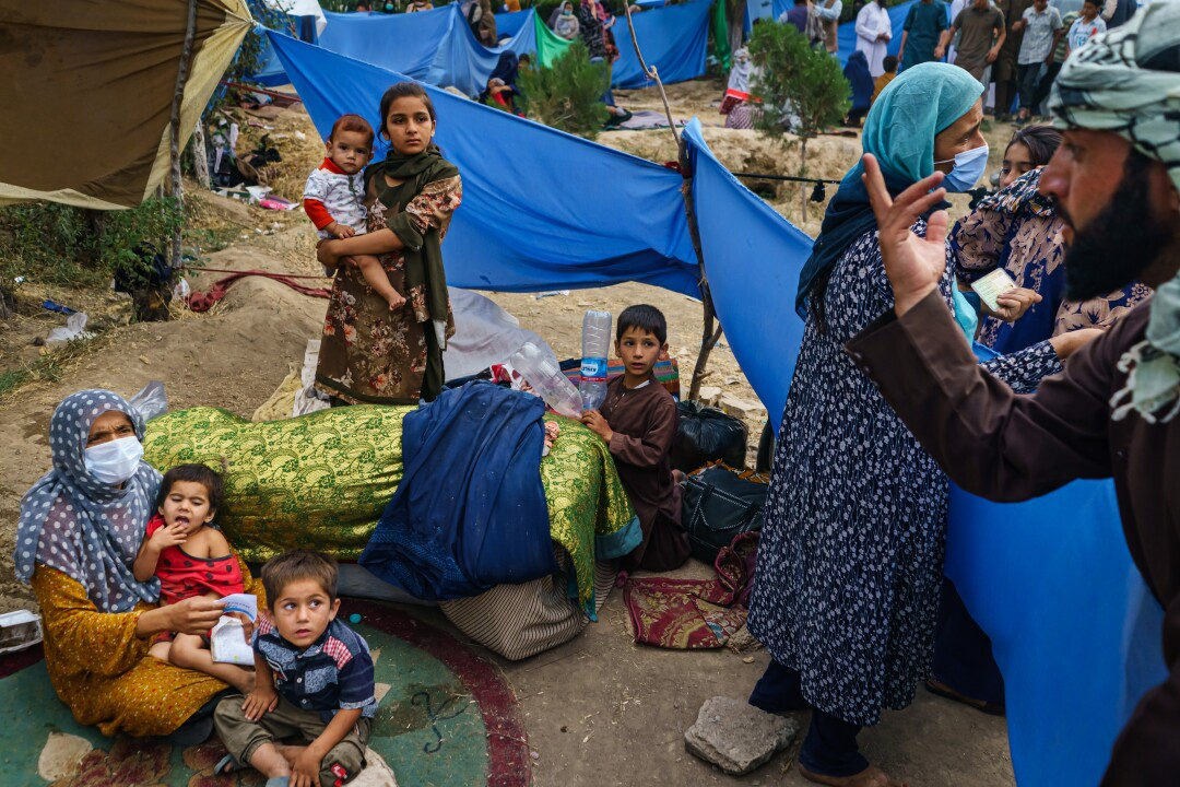Fleeing Advancing Taliban Afghan Refugees Face