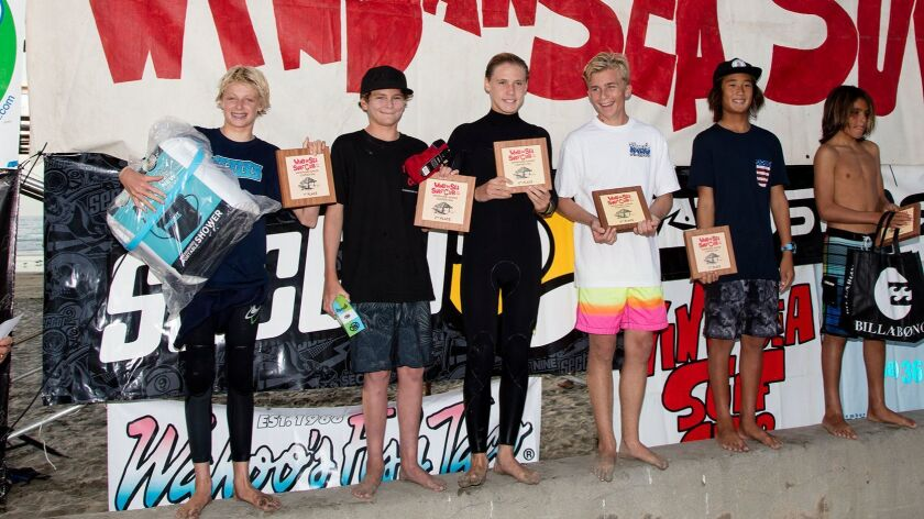 Boys Shortboard 14-16 finalists (not in order): Jacob Kelly, Mick Davey, Raphael Castro, Burkley Eggers, Kalib Yang, Matt Perreault