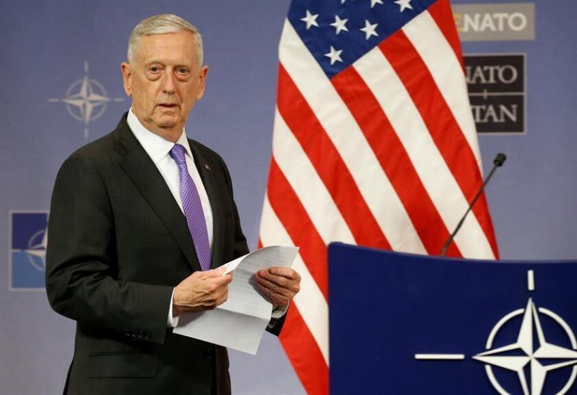 El secretario de Defensa de Estados Unidos, James Mattis, ofrece una rueda de prensa. EFE/Archivo
