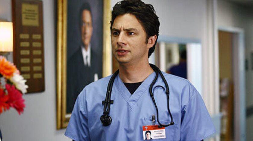 """Zach Braff as Dr. John """"J.D."""" Dorian in """"Scrubs."""""""