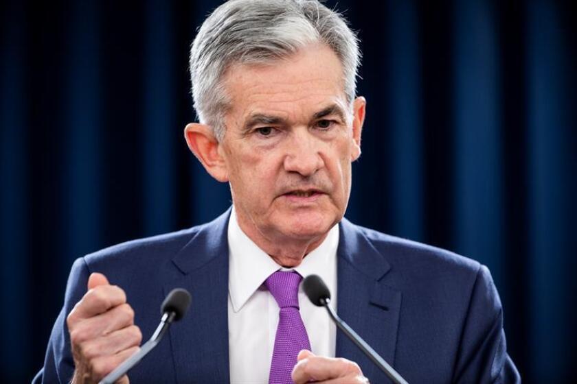 El presidente de la Junta de Reserva Federal (Fed, por sus siglas en inglés), Jerome Powell. EFE/Archivo