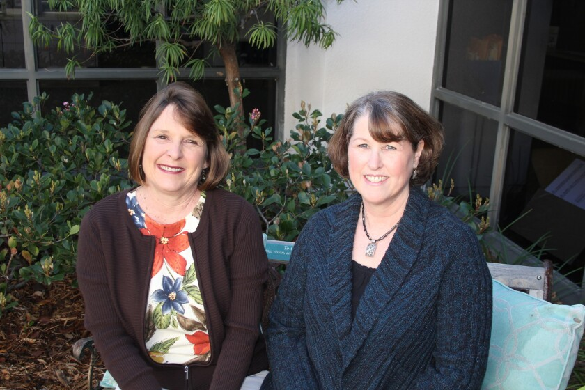 Teachers Debbie Keller and Tarri Baldwin have been at Solana Highlands School for 30 years.