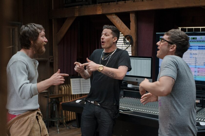"""""""Popstar: Never Stop Never Stopping"""" is headlined by (from left) Akiva Schaffer, Andy Samberg and Jorma Taccone, collectively known as The Lonely Island."""