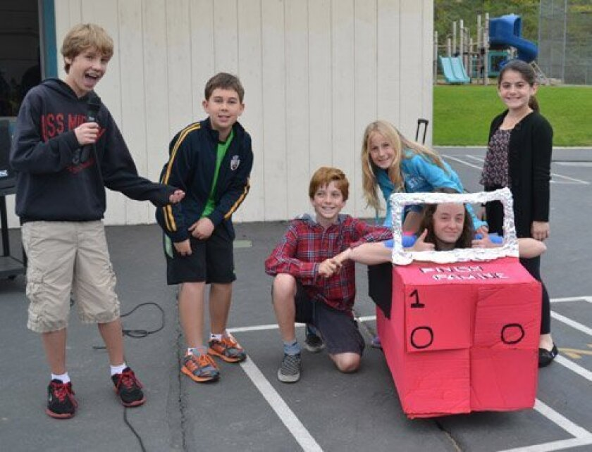 Student Council members Zachary Faith, Joseph Phillips, Cooper Mortimer, Ali Youel, Morgan Schreiber and Kamila De La Fuente helped promote Solana Santa Fe's recent food drive. They asked students to help fuel the race against famine by donating to the San Diego Food Bank.