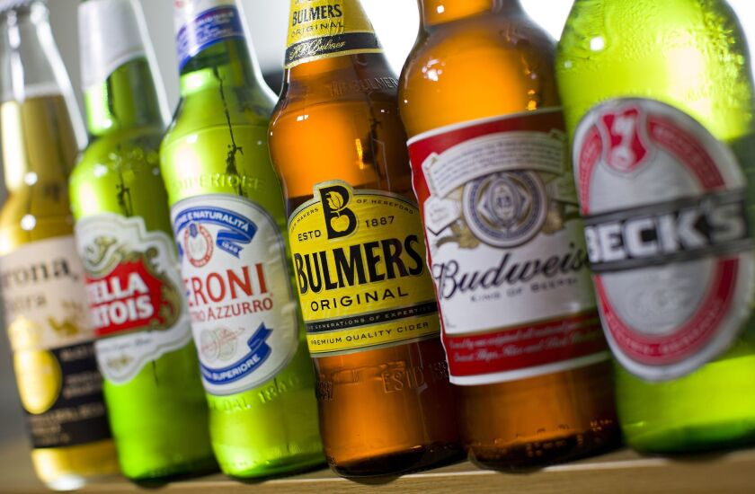 Beer giants Anheuser-Busch InBev and SABMiller said Tuesday they had agreed in principle to key terms of a potential takeover offer.