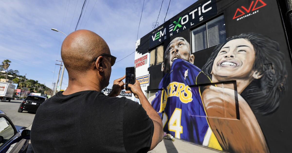 Kobe Bryant's memory runs through the heart of L.A., and on its walls