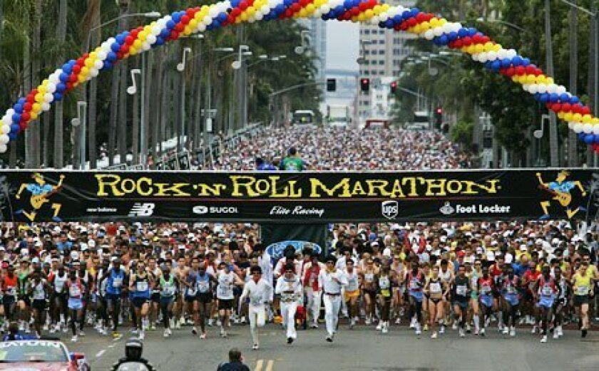 More than 15,000 participants started last year's Rock 'n' Roll Marathon at Sixth Avenue and Palm Street. Privately held Elite Racing has staged the event for 11 years. (Nancee E. Lewis / U-T)
