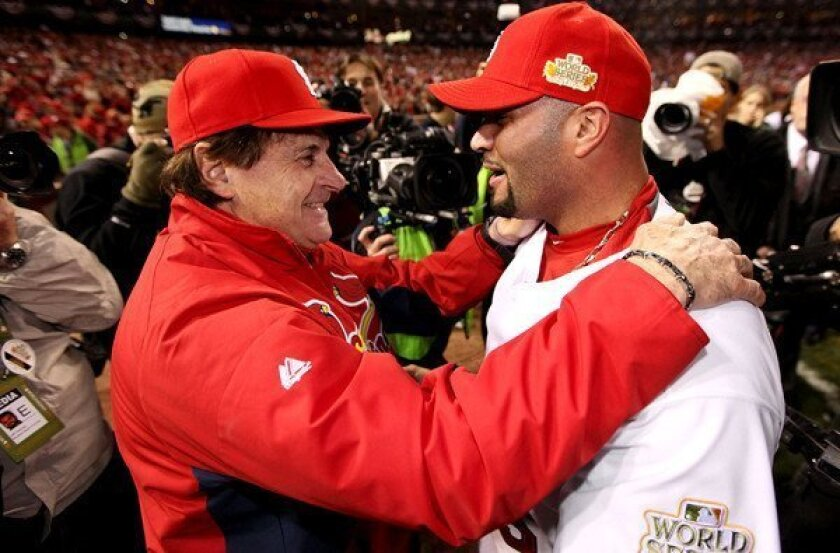 Tony La Russa will be reunited with Albert Pujols with the Angels next season.