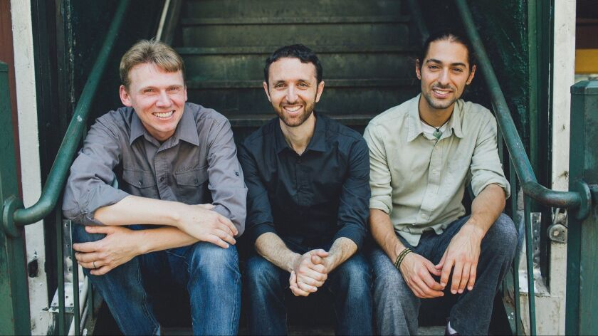 The Danny Green Trio, from left: bassist Justin Grinnell, pianist Danny Green and drummer Julien Can