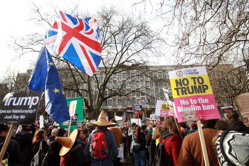 Protestas en Londonl EFE/EPA/SEAN DEMPSEY