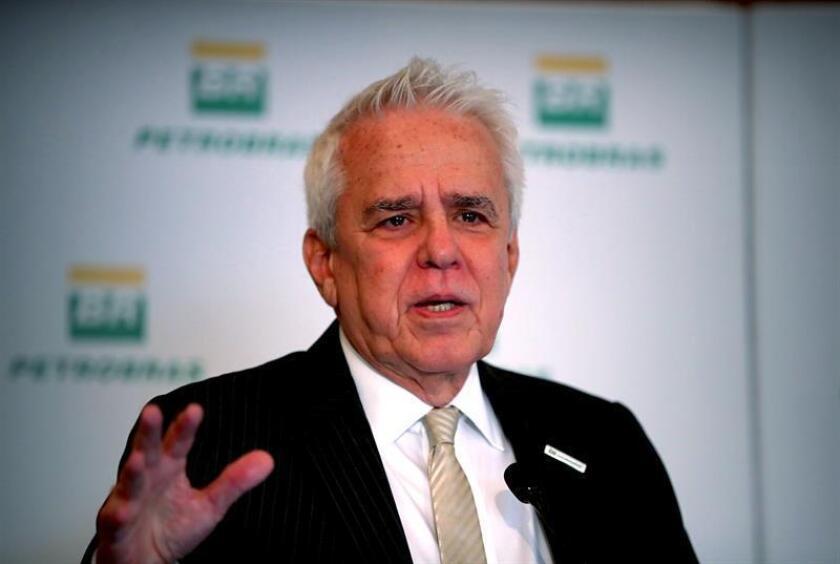 Roberto Castello Branco, the CEO of Brazilian state oil company Petrobras, speaks at a press conference on Feb. 28, 2019, in Rio de Janeiro. EPA-EFE/Marcelo Sayao
