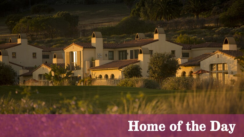 The golf-course and ocean-view villa at Terranea in Rancho Palos Verdes is decorated and furnished.