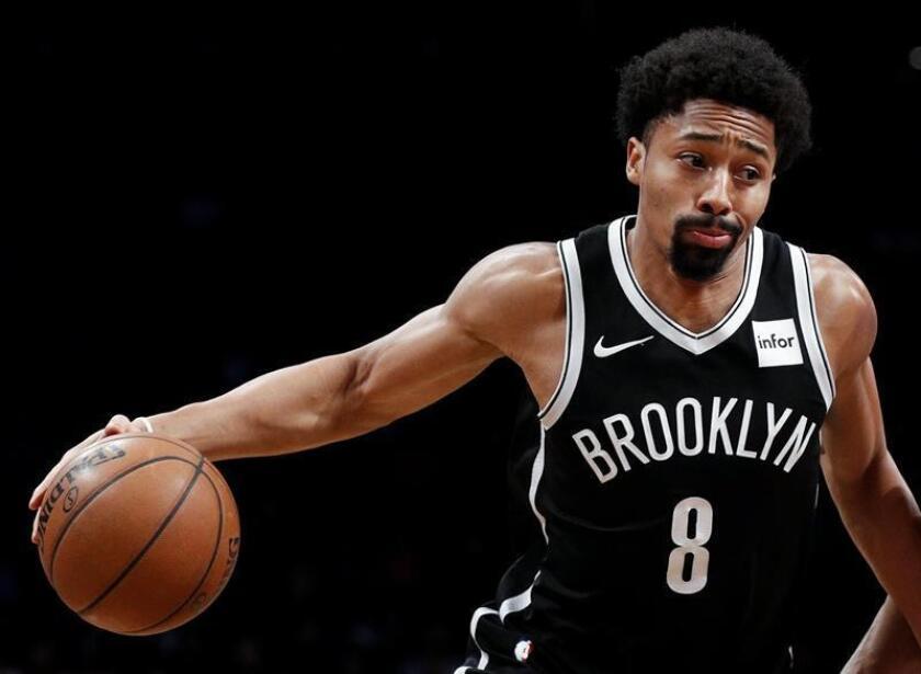 En la imagen, el jugador de los Nets, Spencer Dinwiddie. EFE/Archivo