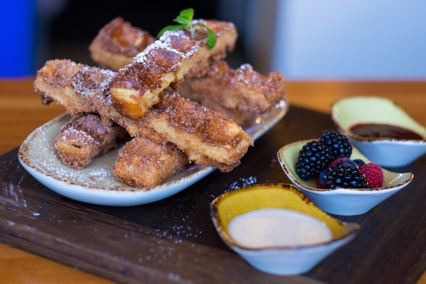 Waffle churros sticks at Madison on Park in University Heights.