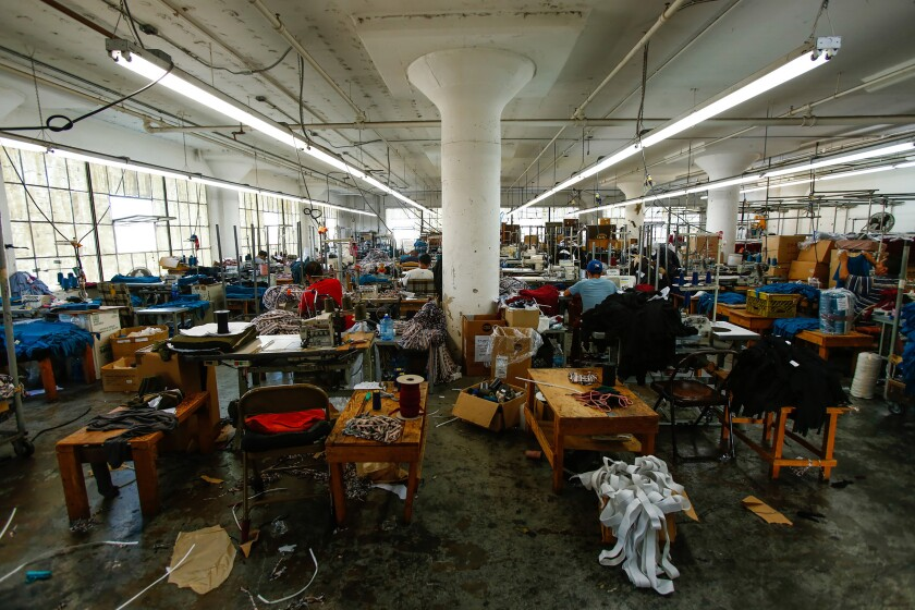 A Los Angeles garment factory