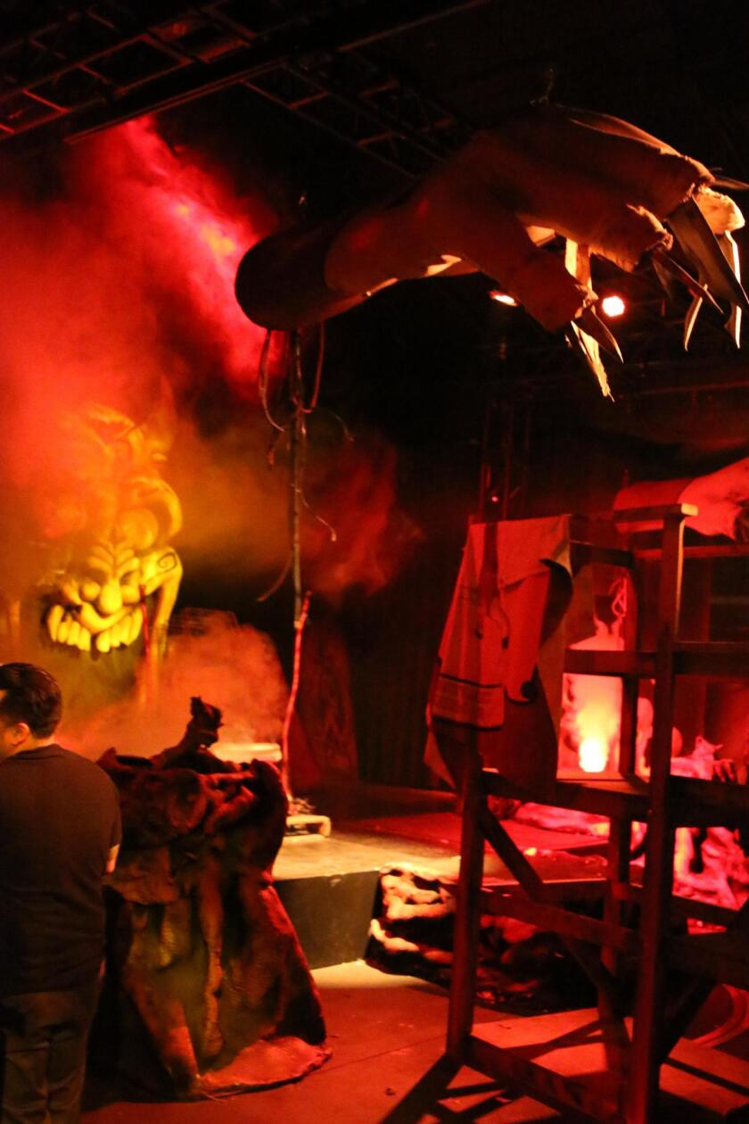 The 'Dark Ride' maze at Knott's Scary Farm has guests walking through an abandoned carnival ride. Knott's best new maze of 2017 is a mixture of whimsical fantasy meets creepy horror meets nostalgic carnival.