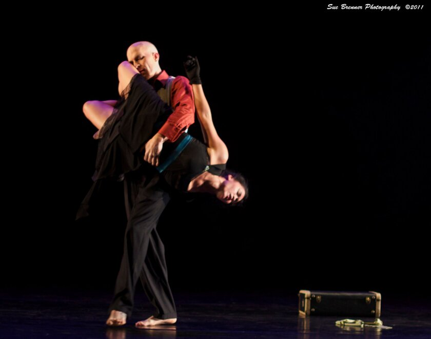 Dancers Shannon Snyder & Viviana Alcazar of Maraya Performing Arts studio dance at SDSU's Don Powell Theatre.