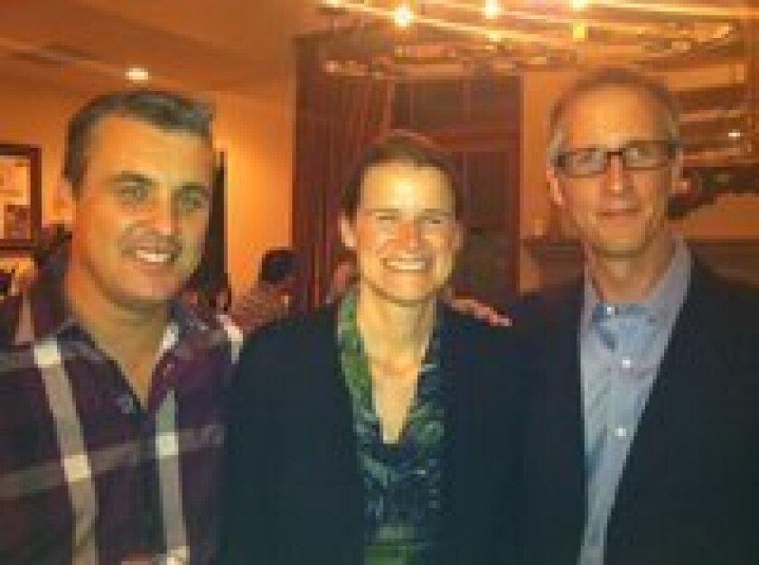 Simon Allen,  Janice and Matt Evans.