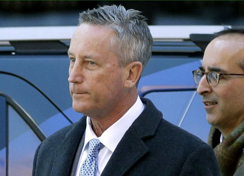 Martin Fox arrives at federal court in Boston  on March 25.