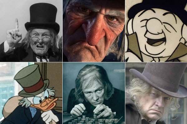 Christmas Carol Scrooge.A Christmas Carol And Ebenezer Scrooge Through The Years