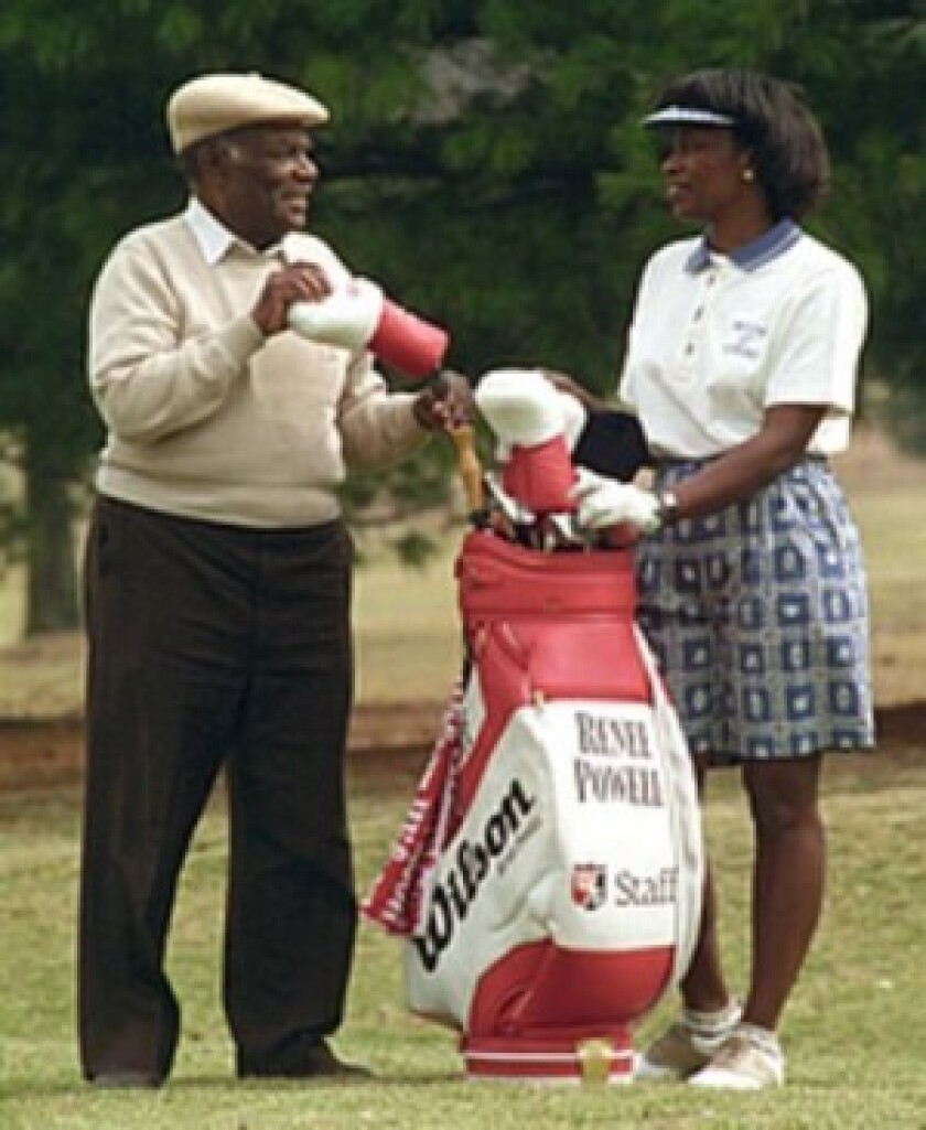 """Bill Powell designed, built and ran Clearview Golf Club in Ohio — dubbed """"America's Course."""" His daughter, Renee Powell was also a professional golfer."""