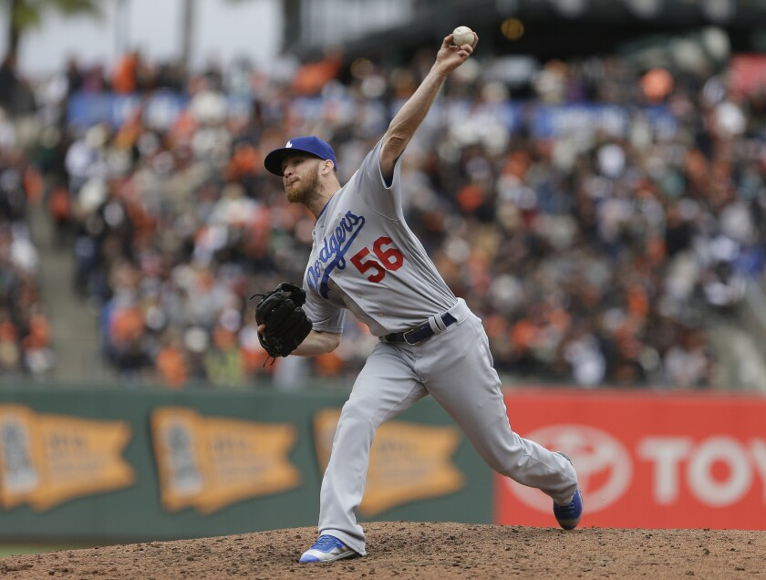 Dodgers relief pitcher J.P. Howell struggled against the San Francisco Giants over the weekend.
