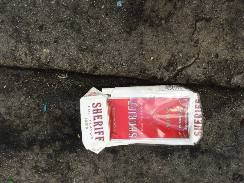 Sheriff cigarettes on Skid Row