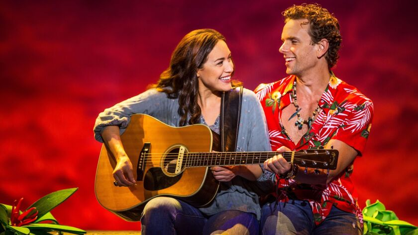 Alison Luff is Rachel, and Paul Alexander Nolan is Tully in La Jolla Playhouse's new jukebox musical