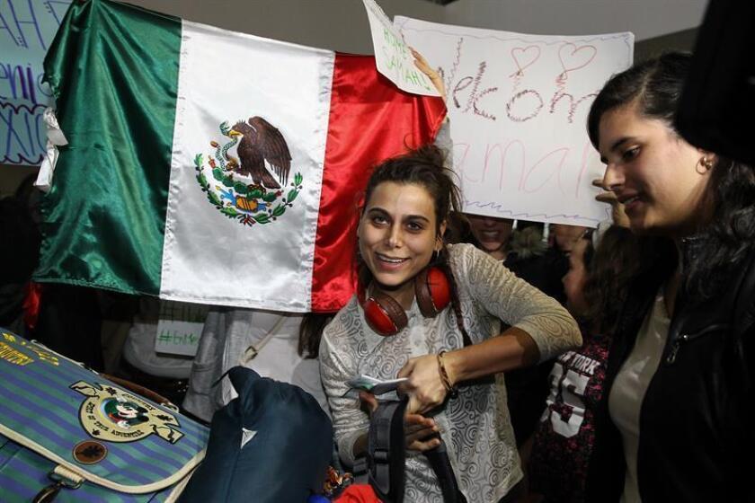 """La estudiante siria Samah Abdulhamid definió hoy como """"un paso muy grande"""" su llegada a México al amparo del Proyecto Habesha para continuar sus estudios tras salir de su país en 2014 a causa del conflicto armado. EFE"""