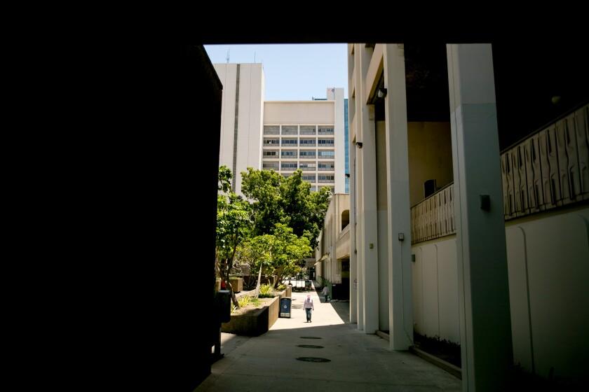Una vista del Ayuntamiento de San Diego en junio de 2020.