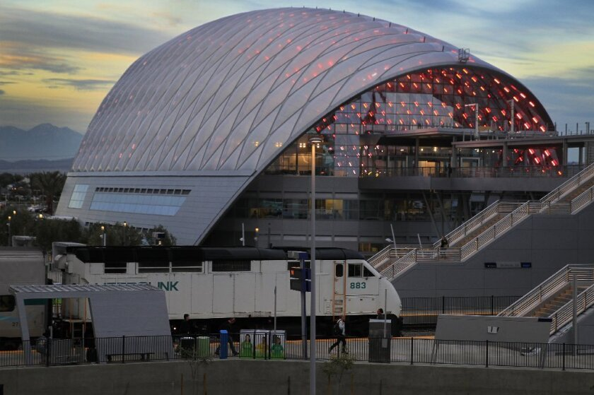 The new ARTIC Transportation Center in Anaheim is expected to be the southern terminus of California's high-speed rail system.
