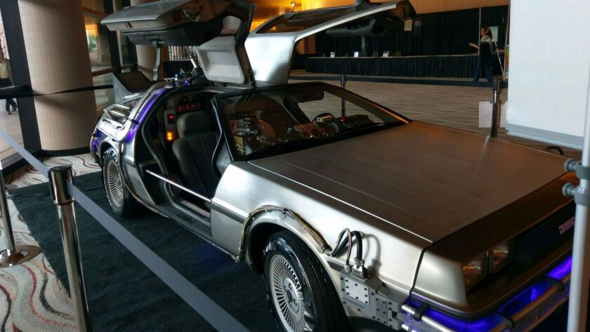 Lenny Hochteil is loaning his replica DeLorean time machine for display at the Vintage Village Theat
