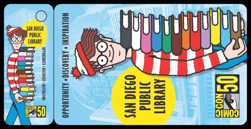 San Diego Public Library Comic-Con library card