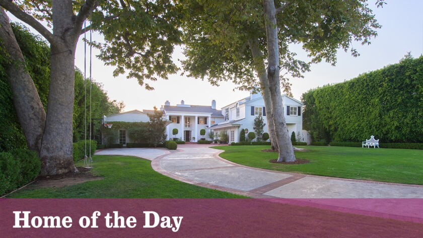 The traditional-style home in Brentwood Park is listed at $19.95 million.