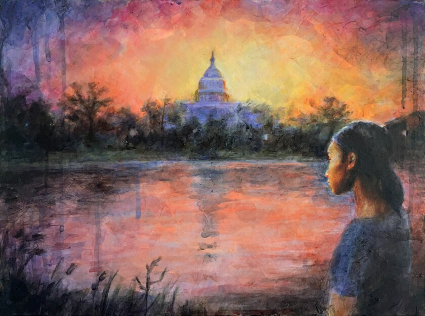 The beloved Capitol, a beacon across the river from my Alexandria childhood