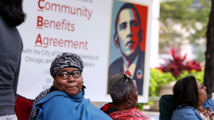Jeanette Taylor of Woodlawn, one of the neighborhoods on Chicago's South Side, where Obama's planned