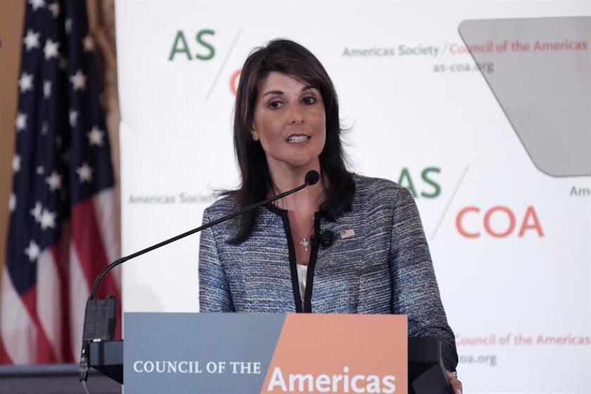 La embajadora de Estados Unidos ante la ONU, Nikki Haley. EFE/Archivo