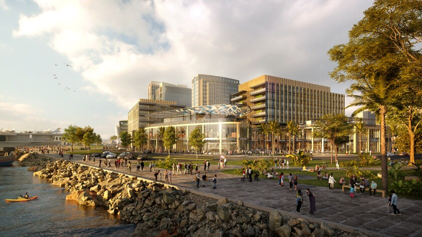 A rendering of what's being called the San Diego Research and Development District, or RaDD.