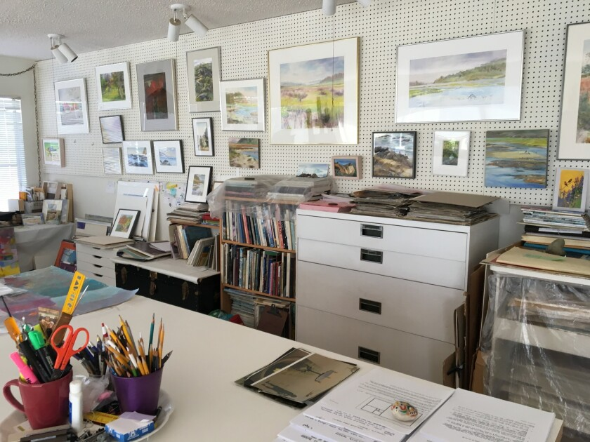Annette Paquet's home studio.