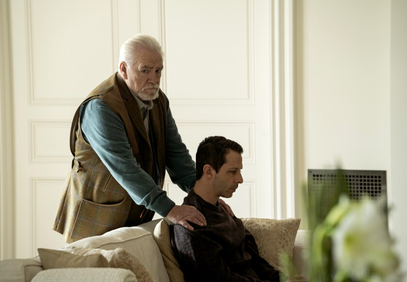 "Brian Cox, and Jeremy Strong in HBO's series ""Succession,"" season 2."