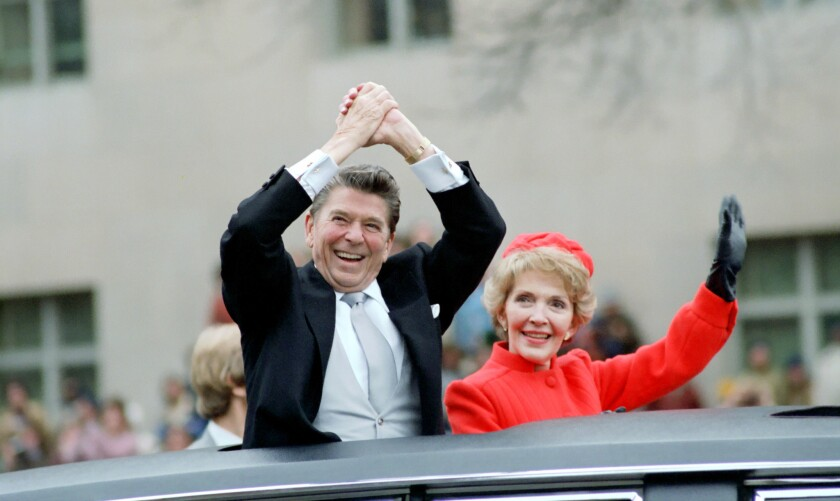 President Reagan and Nancy Reagan