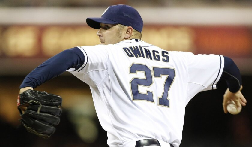 Padres pitcher Micah Owings has been placed on the disabled list with a right forearm strain.