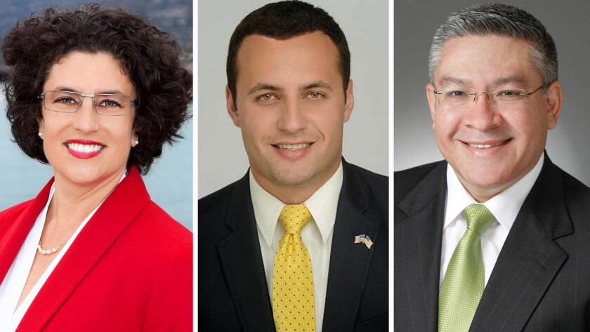 Santa Barbara Mayor Helene Schneider, businessman Justin Fareed and Santa Barbara County Supervisor Salud Carbajal are vying for a seat in the 24th congressional district.