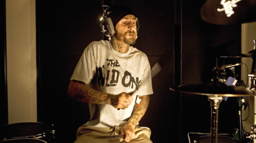KEEPING THE BEAT: Travis Barker, now busy remixing the work of rap and R&B luminaries, is half of TRV$DJAM.