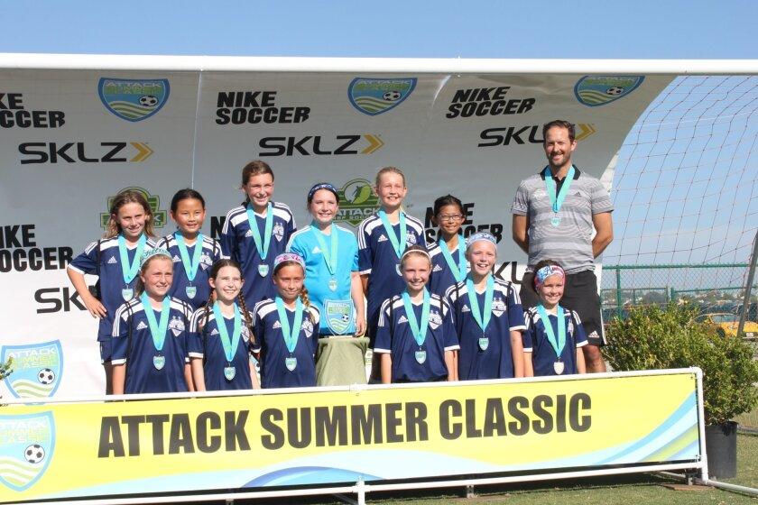 Congratulations to the Del Mar Carmel Valley Sharks GU11 Hammond team for winning the Rancho Santa Fe Attack Summer Classic Championship!