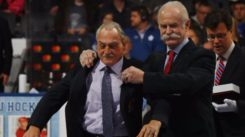 Rogie Vachon is inducted to the Hockey Hall of Fame
